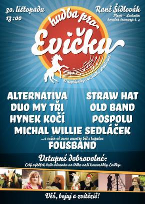 Pozv�nka na benefi�n� koncert �Hudba pro Evi�ku�